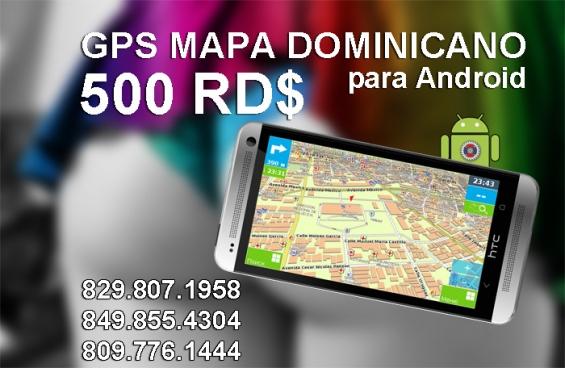 Mapa dominicano para celulares tabletas con android, version offline. ver. 4.9