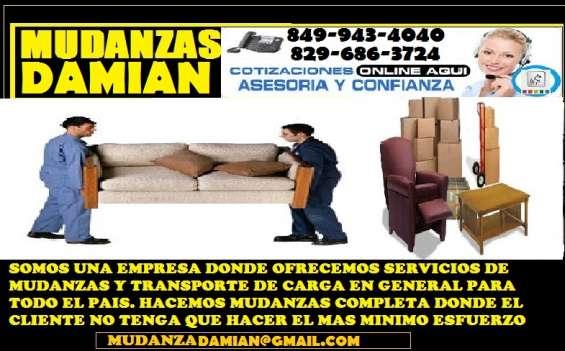 Mudanzas damian 849 943 4040 empresa especializada en servicio de mudanza