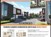 Excelentes casas de 3 hab, 2 nivel, en villas del sol