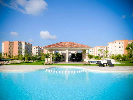 Punta cana apartamentos en ventas con area de bbq con playa con [piscina