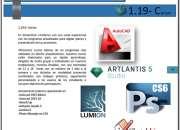 CURSOS PROGRAMAS DE ARQUITECTURA AUTOCAD LUMION, 3DS y mas.