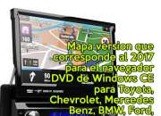 DVD con GPS mapa Dominicano para Autoradio Windows CE