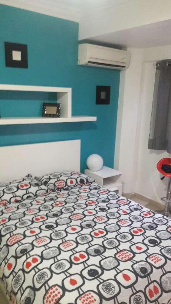 Apartamento estudio amueblado full, en naco, primer piso, rd