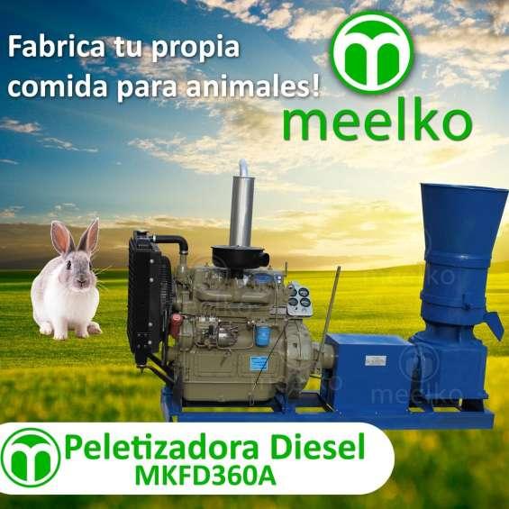 Peletizadora diésel mkfd360a pellets comida de conejo