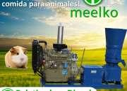 Peletizadora Diésel MKFD360A pellets comida de cobayo