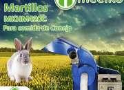 Molino de martillo MKHM420C para comida de conejo