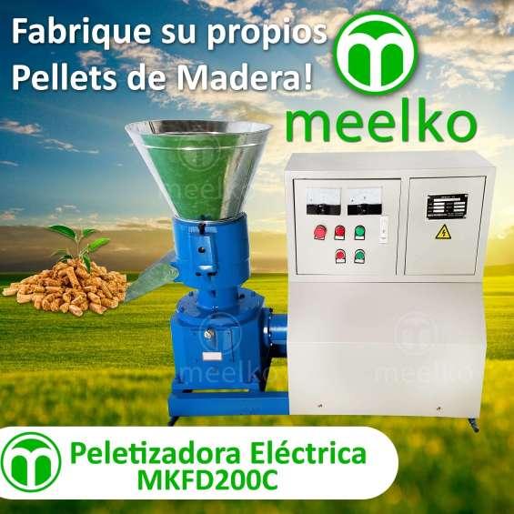 Peletizadora mkfd200c para pellets con madera
